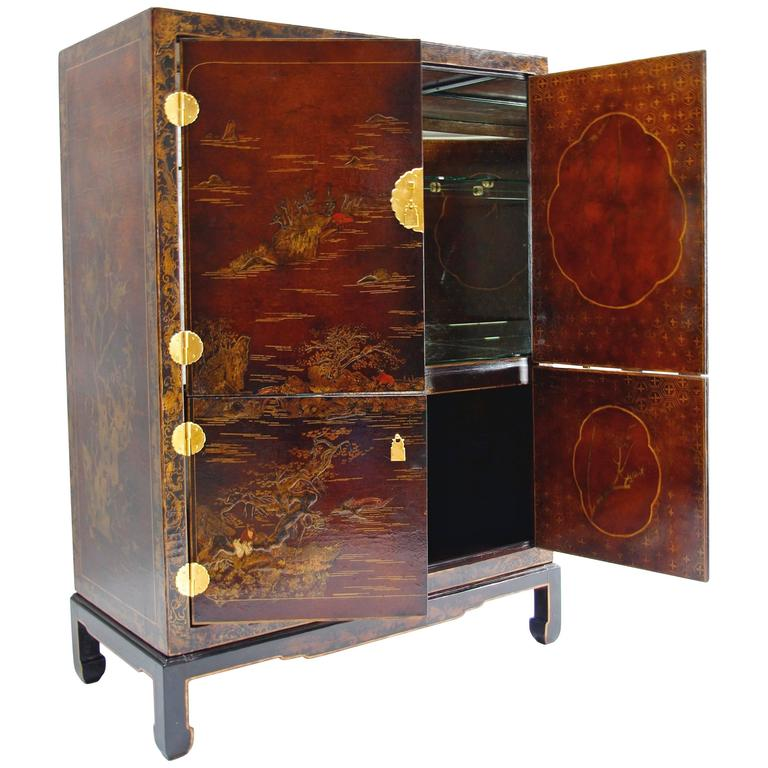 Chinese Style Lacquer Cabinet or Bar, circa 1900