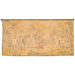 19th Century French Rococo Revival Tapestry Textile