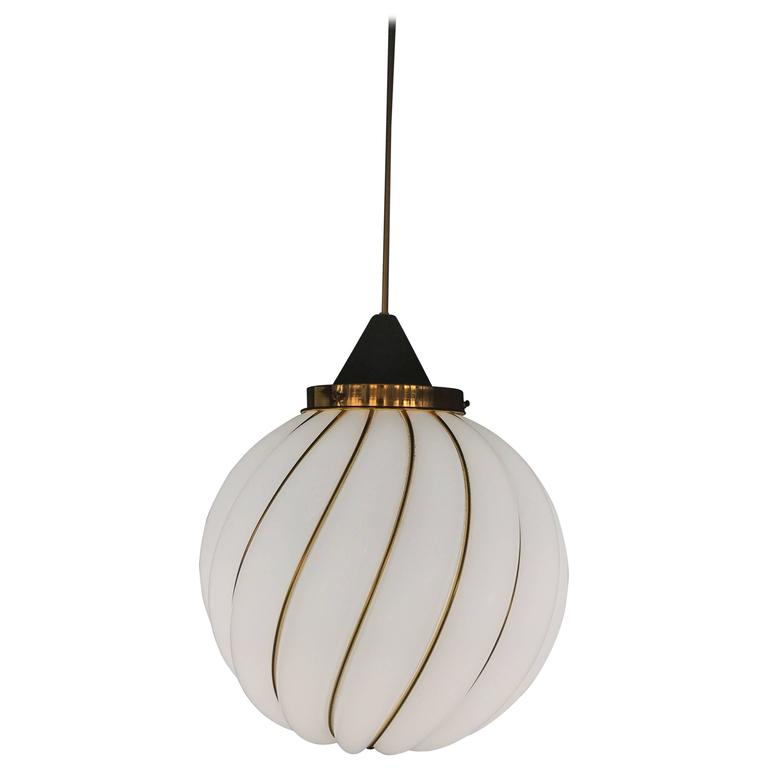 Mid-Century Modern Chandelier by Venini Art, Designed by A. Loos, Murano Glass For Sale
