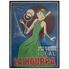 La Houppa Vintage Radio Poster R Faye, 1930s