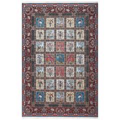 Fine Golestan Design Vintage Tabriz Persian Rug