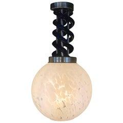 Mid-Century Modern Small Pendant Light by Venini in Murano Glass