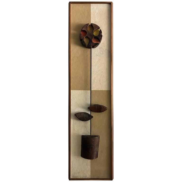witco mid century modern abstract flower wall art sculpture at 1stdibs. Black Bedroom Furniture Sets. Home Design Ideas