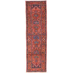 Antique Persian Heriz Runner with Modern Tribal Style