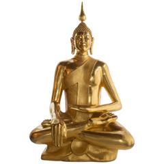 24-Karat Gold Leaf Healing Buddha Statue