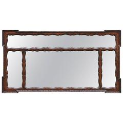 Carved Spanish Colonial Mantle Mirror