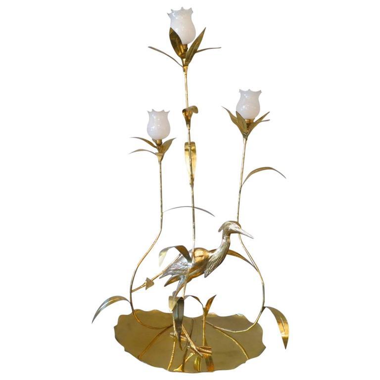 Italian Brass Floor Lamp by Cittone Oggi