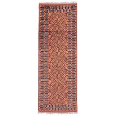 Vintage Persian Turkoman Runner with Modern Tribal Style