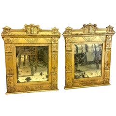 Pair of Late 18th Century French Directoire Gilt Mirrors