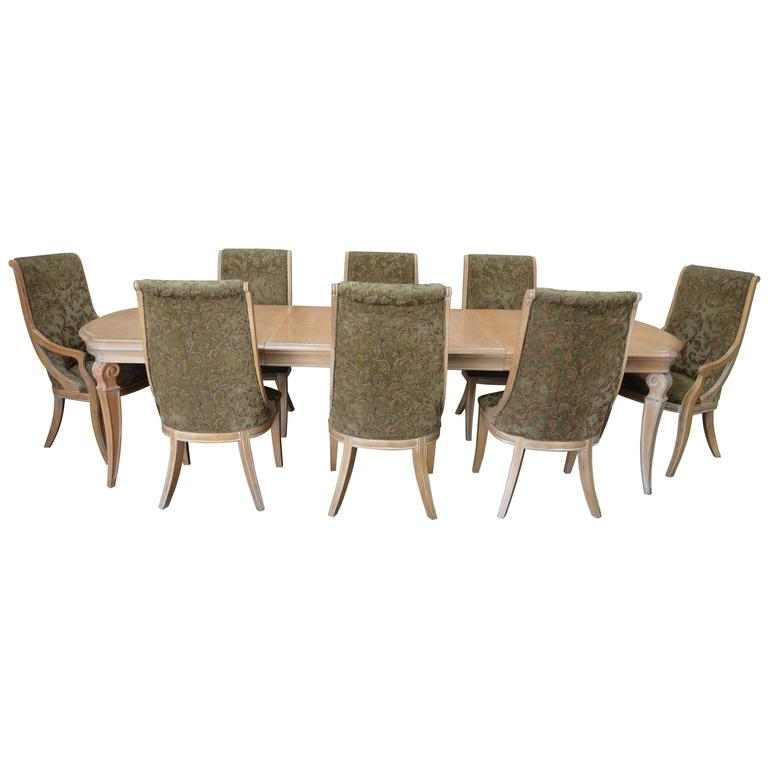 Henredon Dining Table and Chairs Set For Sale