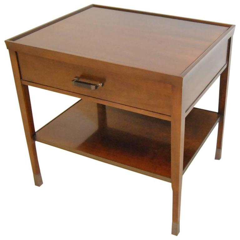 Walnut Side End Table by Bill Sofield for Baker Furniture For Sale