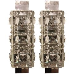 Pair of 1960s Austrian Crystal Kinkeldey Wall Lights