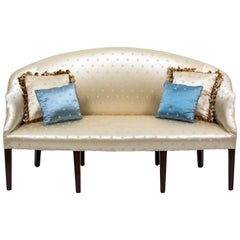 George III Style Mahogany Upholstered Settee, Early 20th Century