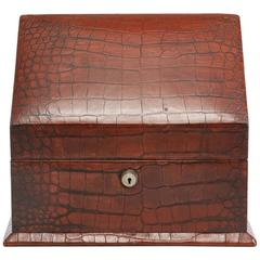 Crocodile Letter box by Barrett & Sons Piccadilly London, circa 1910
