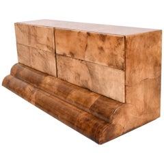 Goatskin Parchment Dresser, Credenza Mid-Century Period after Aldo Tura