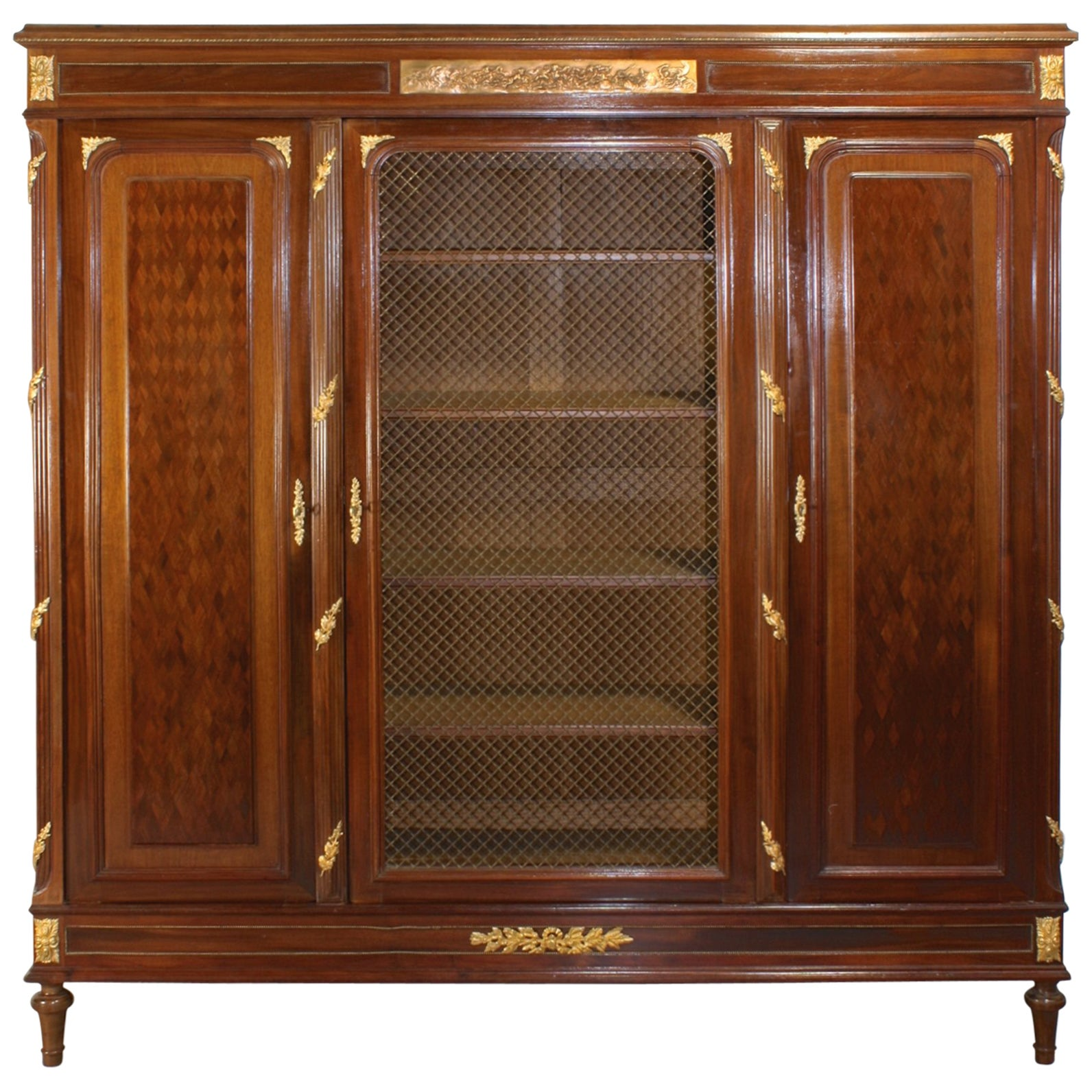French Louis XVI Style Mahogany Bibliotheque