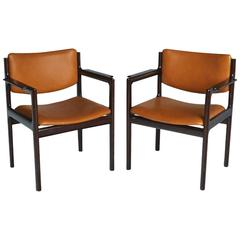 Pair of Danish Modern Rosewood Armchairs, circa 1960