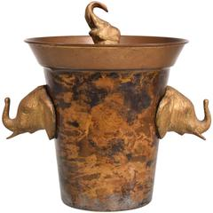Hollywood Regency Elephant Ice Bucket
