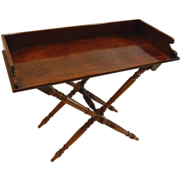19th Century Mahogany English Butler 39 S Tray Table On
