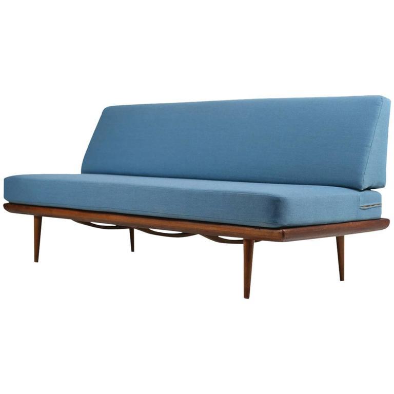 Danish Modern 1960s Daybed by Peter Hvidt & Orla Mølgaard Nielsen Teak Sofa For Sale