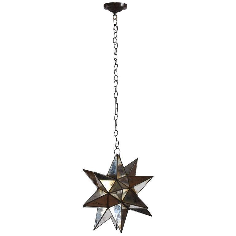 Starburst Mirrored Chandelier or Pendant For Sale