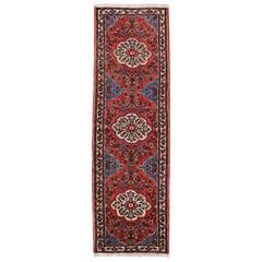 Vintage Persian Roudbar Runner with Jacobean Style, Persian Hallway Runner