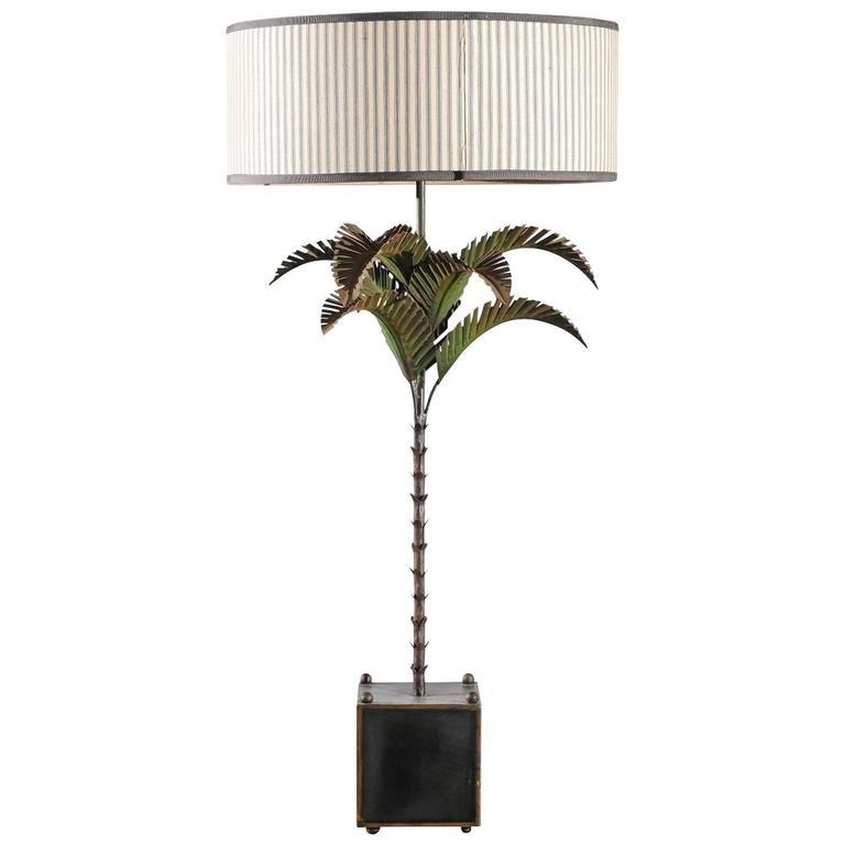 tall italian tole palm tree lamp 1