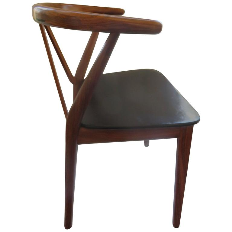 Mid-Century Danish Modern Chair by Henning Kjdaernulf for Bruno Hansen 1