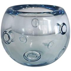 Gunnar Nylund for Strömbergshyttan Vase with Ring Bubbles, Sweden