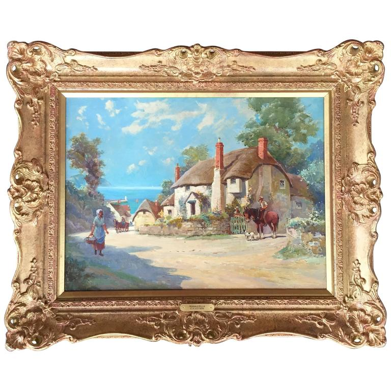 """""""Country Life by the Sea"""" by English Artist Reginald Mills"""