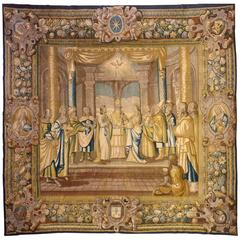 17th Century French Religious Tapestry, New Testament, Marriage of Mary & Joseph