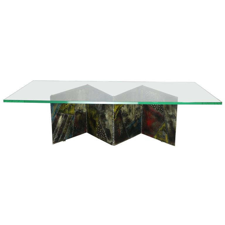 Paul Evans for Directional Zig-Zag Coffee Table