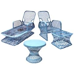 Russell Woodard Outdoor Chaise Set