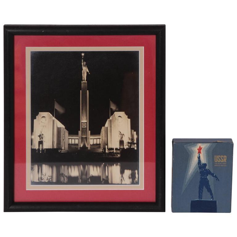 Art Deco Machine Age Heroic Ussr Ephemera 1939 New York World's Fair
