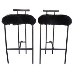 "Pair of Modernist ""Tokyo"" Barstools by Rodney Kinsman for Bieffeplast, Italy"