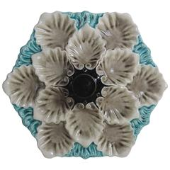 Majolica Oyster Platter Orchies, circa 1920