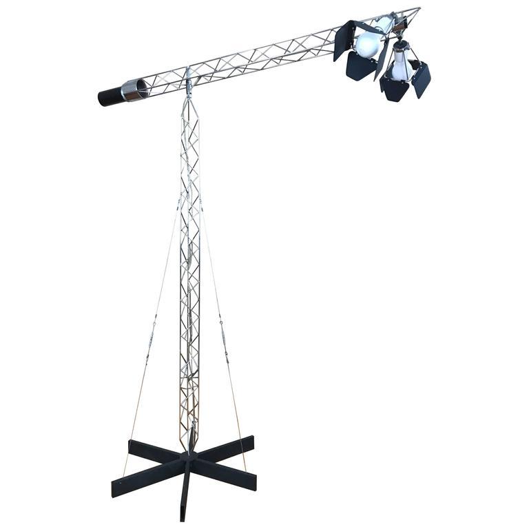 Mid-Century Curtis Jere Crane Floor Lamp