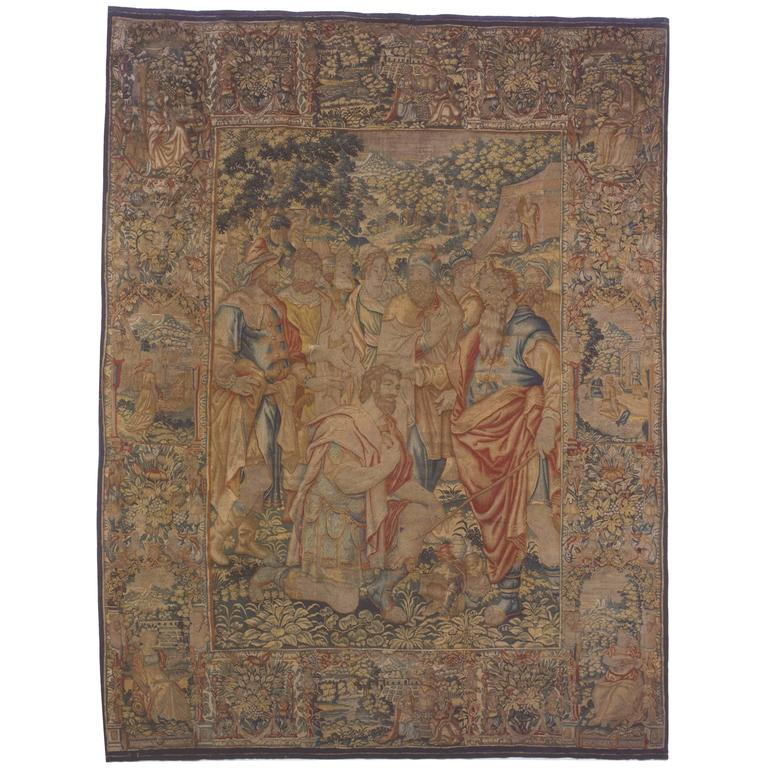 16th Century Brussels Biblical Old Testament Tapestry, with Moses & Joshua