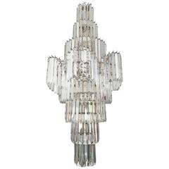 Massive Eight-Tier Lucite Camer Style Chandelier by Triarch