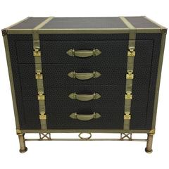 Large French Louis Vuitton Style Trunk, Commode or Chest