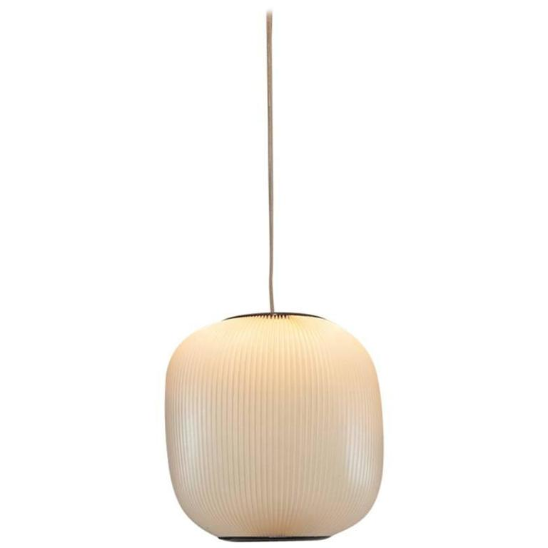 Rare French Modern Hanging Lantern by Rispal