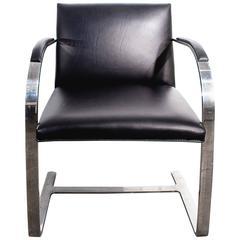 Brno Flat Bar Arm Chair by Mies van der Rohe