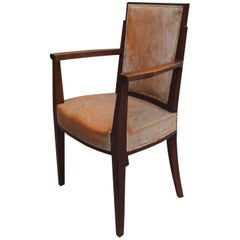 A Fine French Art Deco Mahogany Armchair by Dominique
