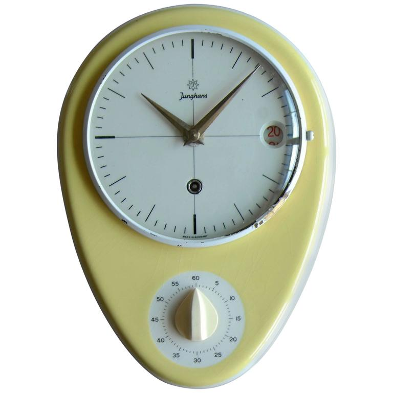 Incredible Max Bill Designed Mid Century Wall Clock With Timer For Junghans Download Free Architecture Designs Rallybritishbridgeorg
