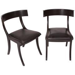 Pair of Klismos Chair, circa 1800, Denmark