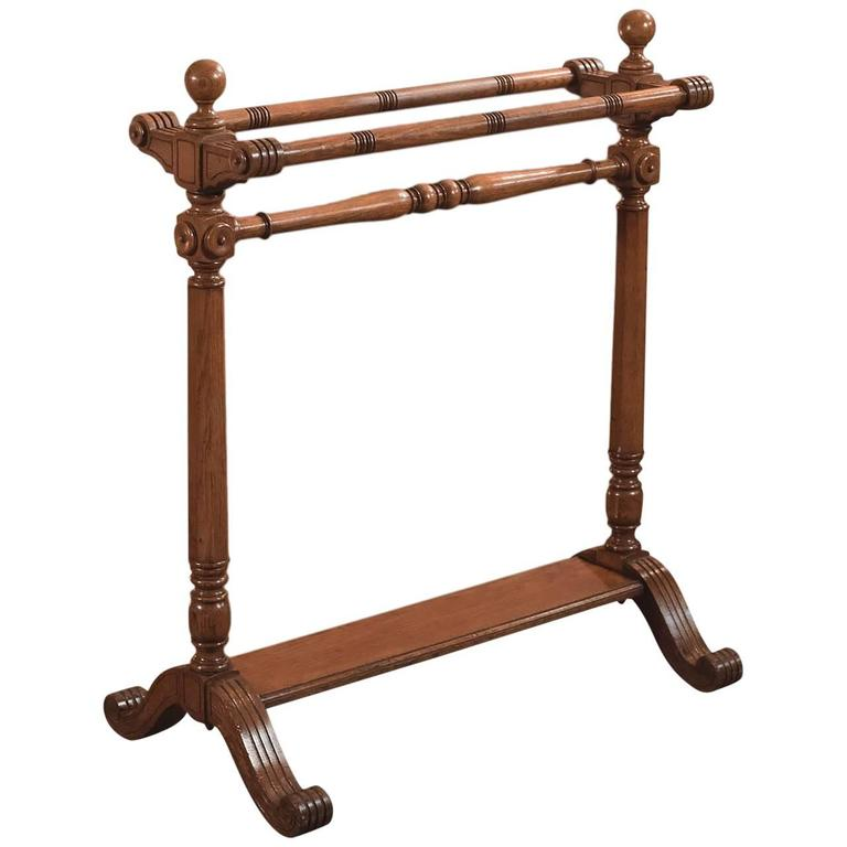 19th Century Antique Towel Rail, Large Victorian Stand, circa 1850