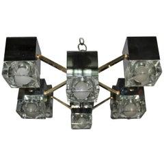 Minimal Sculpture Ceiling Lamp Sciolari Design Italian Design, 1970s