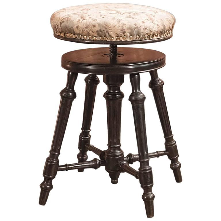 19th Century Antique Piano Stool Aesthetic Period Circa 1880 For Sale At 1stdibs