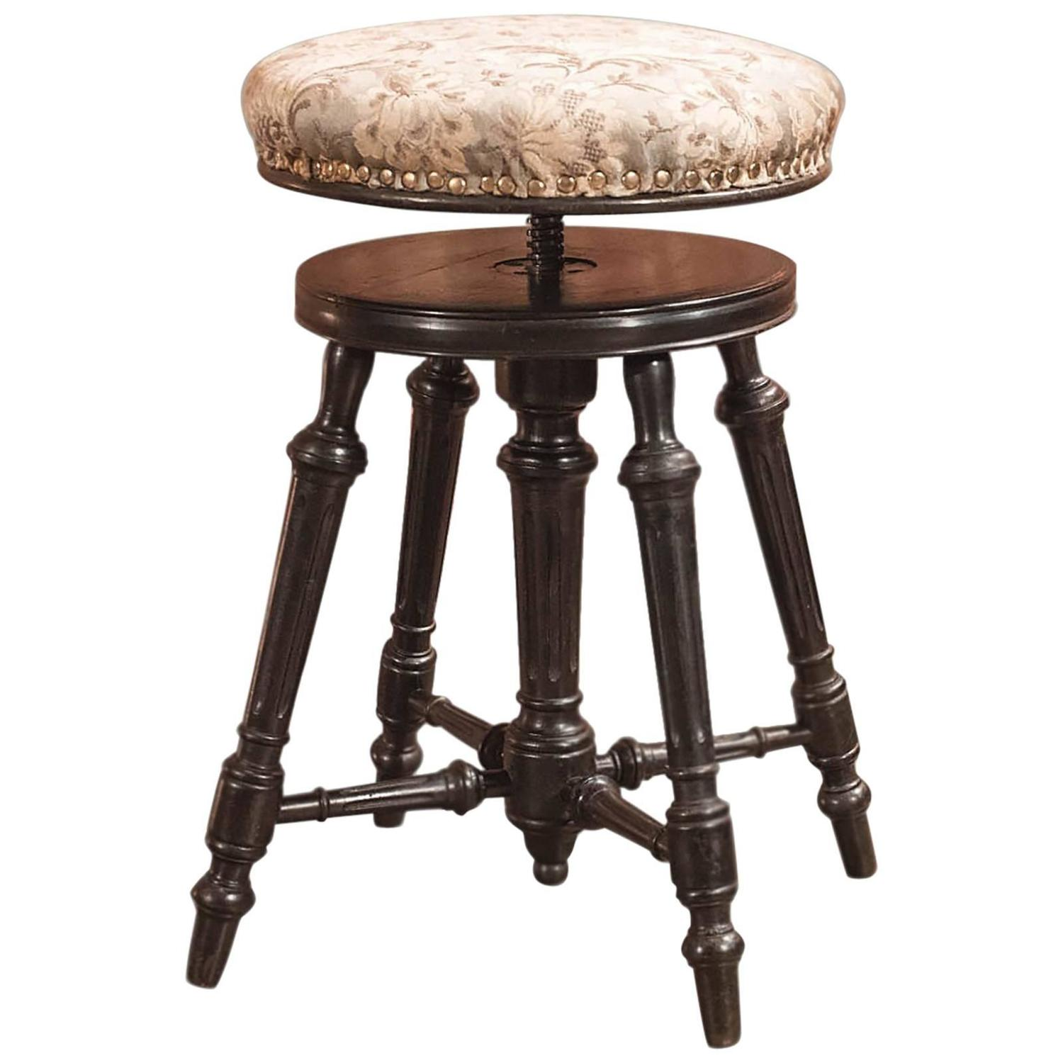 19th Century Antique Piano Stool Aesthetic Period circa 1880 For