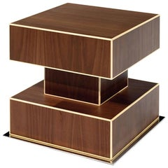 Ettore Sottsass Coffee Table Oak Design Edition, Italy